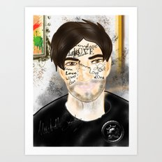 The Word you Never Say (Giannis). Art Print