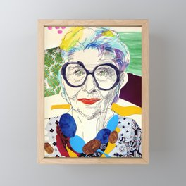 Iris Apfel Fanart Framed Mini Art Print