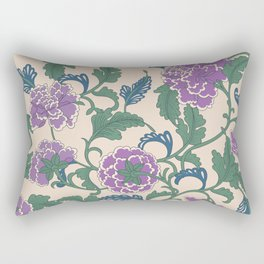 traditional purple-coloured flower Rectangular Pillow