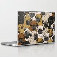 huebucket Laptop & iPad Skins featuring Social Pugz by Huebucket