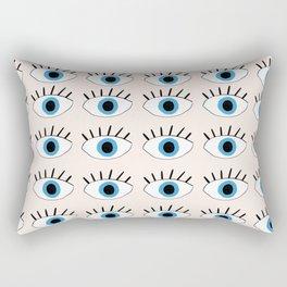 Blue evil eye Rectangular Pillow