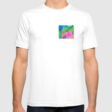 Earthly White Mens Fitted Tee MEDIUM