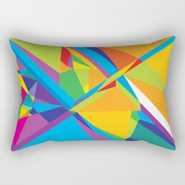 bright abstraction 3 Rectangular Pillow