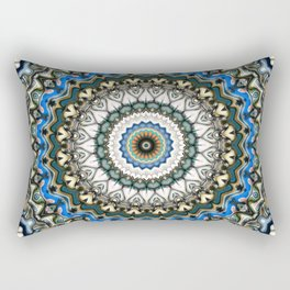 Ornate Colorful Mandala Rectangular Pillow