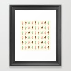 Ice Cream - Whipped Framed Art Print