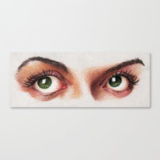 Eyes girl are looking something Canvas Print
