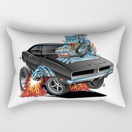 Classic 69 American Muscle Car Cartoon Rectangular Pillow