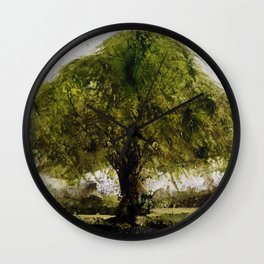 Study of a small tree in Suffolk  Wall Clock