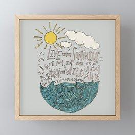 Emerson: Live in the Sunshine Framed Mini Art Print