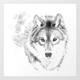 WOLF WHITE Art Print