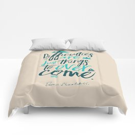 Shackleton quote on difficulties, illustration, interior design, wall decoration, positive vibes Comforters