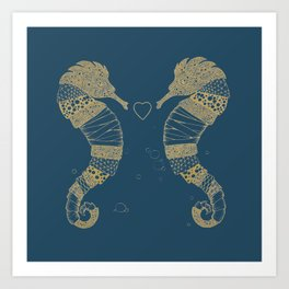 <3 of seahorses Art Print