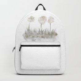 Greyscale Garden - Trichromatic Dandelions Backpack
