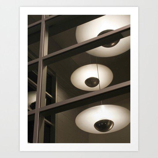 Saucer Lights Art Print