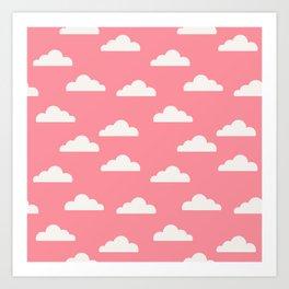 Clouds Pink Art Print