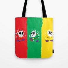 Shy Guy Tri-Guy Design Tote Bag