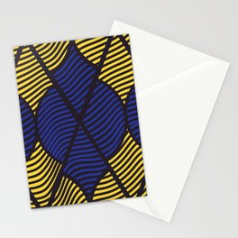 Indie in Blue and Yellow Stationery Cards