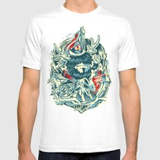 LongLived MEDIUM Mens Fitted Tee White