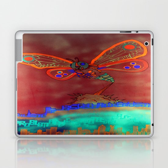 Bad Ash Mothra Funker Full (Wobblesauce) Laptop & iPad Skin