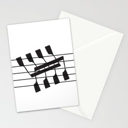 Rowing & Music Notes 8 Stationery Cards