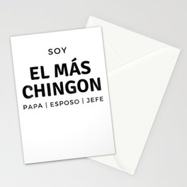 Mens Father's Day Dad Soy El Mas Chingon Papa Esposo Jefe T Stationery Cards