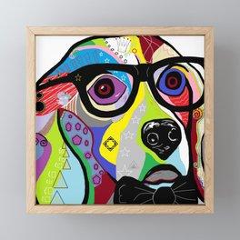 Sophisticated Beagle Framed Mini Art Print