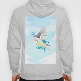 Little Bird Carries Blue Flower Hoody