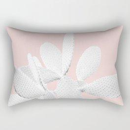 White Blush Cactus #1 #plant #decor #art #society6 Rectangular Pillow