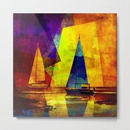 Evening sailing Metal Print