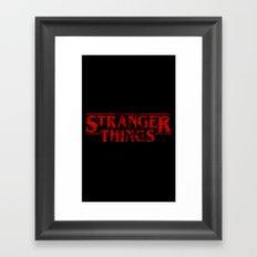 Stranger Things Grunge Framed Art Print