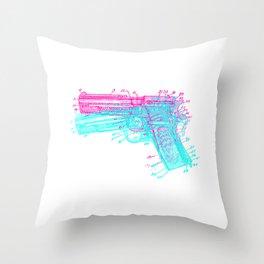 Gun Diagram Throw Pillow