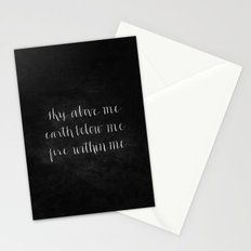 Fire Within Me // White on Black Stationery Cards