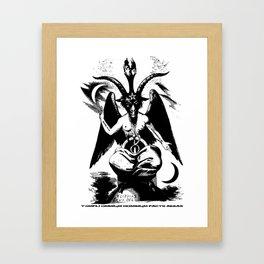 Der Baphomet Framed Art Print