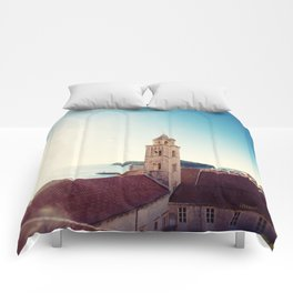 View of the Sea in Dubrovnik Croatia Comforters