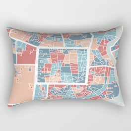Chiang Mai map Rectangular Pillow