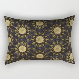 Islamic decorative pattern with golden artistic texture Rectangular Pillow