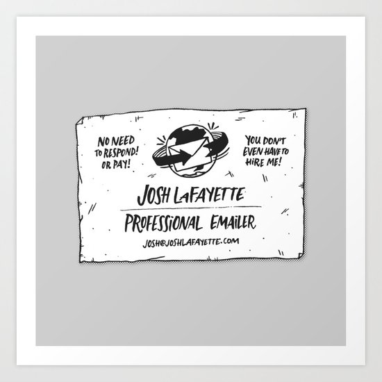 Fake Business Card Art Print