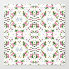 Pink Floral Print  Canvas Print