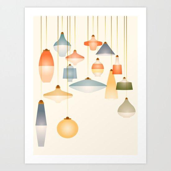 la belle lumière Art Print
