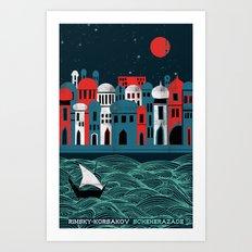 Scheherazade - Rimsky Korsakov Art Print
