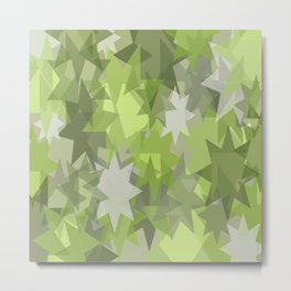 star green background color Metal Print