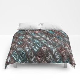 Sparkling Rhombs, aqua Comforters