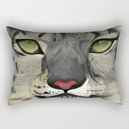 The Eyes Have It - Snow Leopard Rectangular Pillow