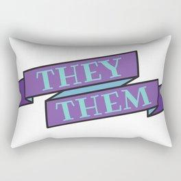 they/them pronouns Rectangular Pillow