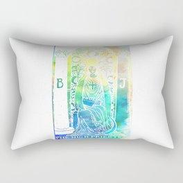 High Priestess - Soft Watercolor Tarot Print Rectangular Pillow