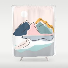 Minimalistic Landscape Shower Curtain