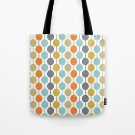 Retro Circles Mid Century Modern Background Tote Bag