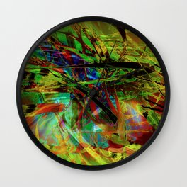 """The Study Of Reeds: Remixed"" Wall Clock"