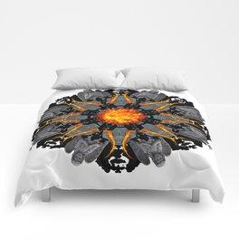 flame grave mandala Comforters