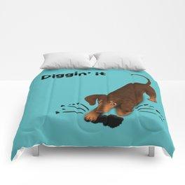 Diggin' it (Brown and Teal) Comforters